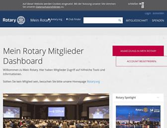 my.rotary.org screenshot