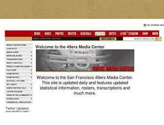 media.49ers.com screenshot
