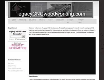 legacycncwoodworking.com screenshot