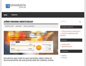 Main page screenshot of grammata.com.ar