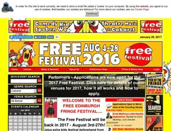 freefestival.co.uk screenshot