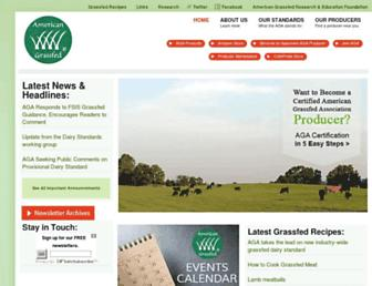 Main page screenshot of americangrassfed.org