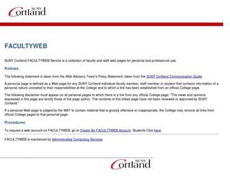 web.cortland.edu screenshot