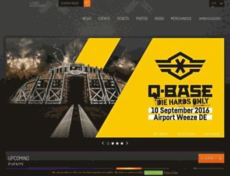 Main page screenshot of q-dance.nl