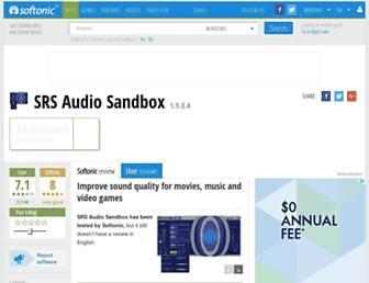 srs-audio-sandbox.en.softonic.com screenshot
