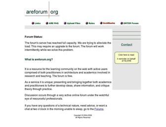 Fullscreen thumbnail of areforum.org