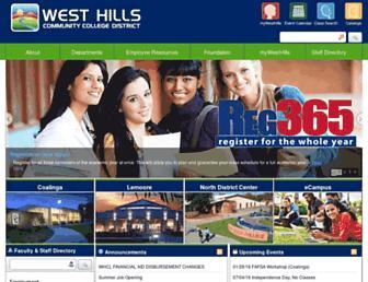 westhillscollege.com screenshot