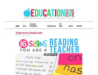 educationtothecore.com screenshot
