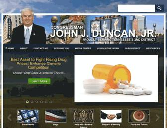 Main page screenshot of duncan.house.gov