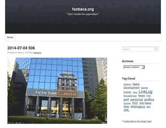 Main page screenshot of fozbaca.org