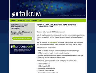 Main page screenshot of talkr.im