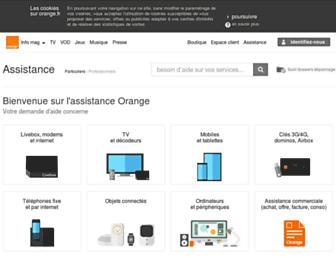 assistance.orange.fr screenshot