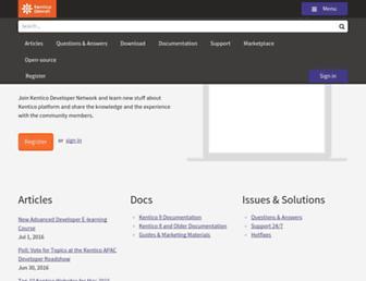 devnet.kentico.com screenshot