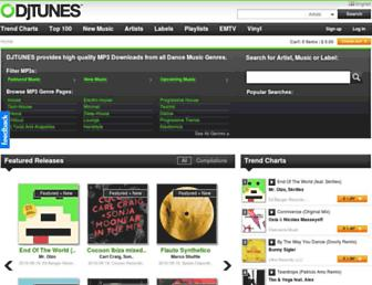 Main page screenshot of djtunes.es