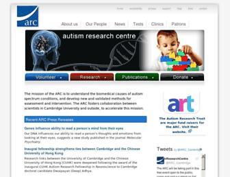 autismresearchcentre.com screenshot