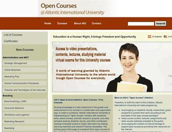 courses.aiu.edu screenshot