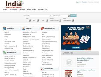 Thumbshot of Indiaclassifiedonline.com