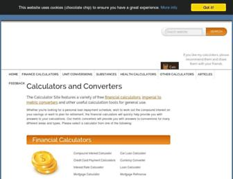 thecalculatorsite.com screenshot