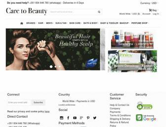 caretobeauty.com screenshot