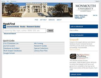 library.monmouth.edu screenshot