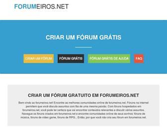Main page screenshot of forumeiros.net
