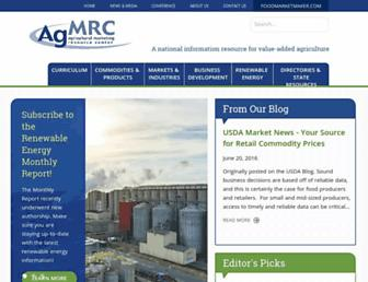 Main page screenshot of agmrc.org