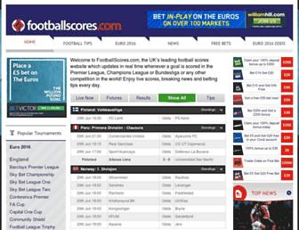 footballscores.com screenshot