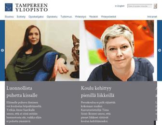 Main page screenshot of uta.fi