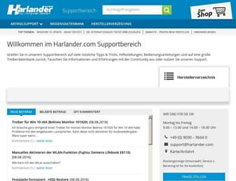 support.harlander.com screenshot
