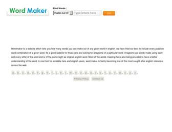 wordmaker.info screenshot