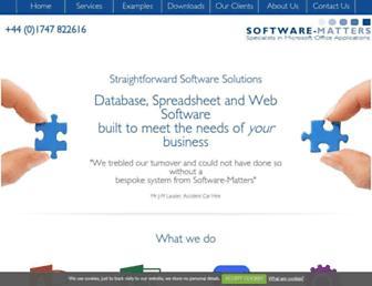 software-matters.co.uk screenshot