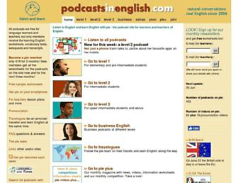 podcastsinenglish.com screenshot