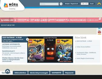 Main page screenshot of mora.hu
