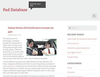 Thumbshot of Paddatabase.com
