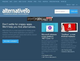 m.alternativeto.net screenshot