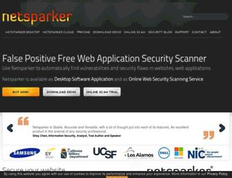 netsparker.com screenshot