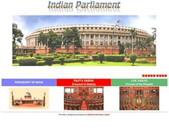 Thumbshot of Parliamentofindia.nic.in