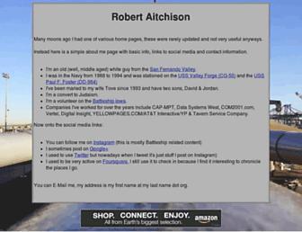 Main page screenshot of robert.aitchison.org