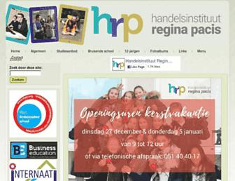 Main page screenshot of hrp-tielt.be