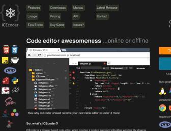 icecoder.net screenshot