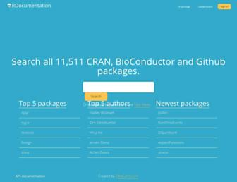 rdocumentation.org screenshot