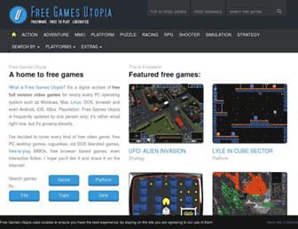 freegamesutopia.com screenshot