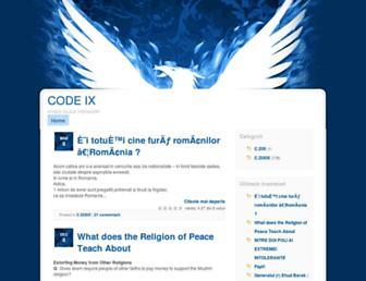 Main page screenshot of azumix.ablog.ro