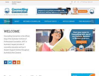 counsellingconnection.com screenshot