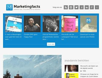Main page screenshot of marketingfacts.nl