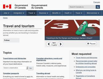 travel.gc.ca screenshot