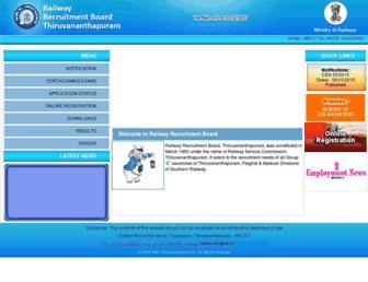 rrbthiruvananthapuram.gov.in screenshot