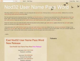 nod32freeusers.blogspot.com screenshot