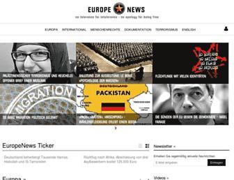 Main page screenshot of europenews.dk