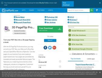 3d-pageflip-professional.en.softonic.com screenshot